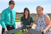 WC students with UAV
