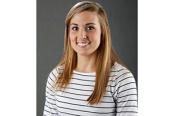 Upper Iowa University alumna and newly named University of Iowa women's volleyball director of operations Emily Sparks.
