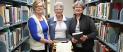 Upper Iowa University library staff members (l-r) Carol Orr, associate director of library services; Becky Wadian, director of library services, and Mary White, assistant director of library services, are retiring after a combined 123 years of service to the University. UIU will host a public reception honoring all upcoming retirees from 4 – 5:30 p.m. in Henderson-Wilder Library on the Fayette Campus on Thursday, April 28.